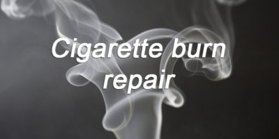 Cigarette burn repair