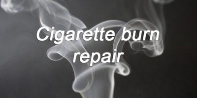 Cigarette burn repair